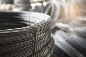 Steel wire for steel wire tie in construction site.